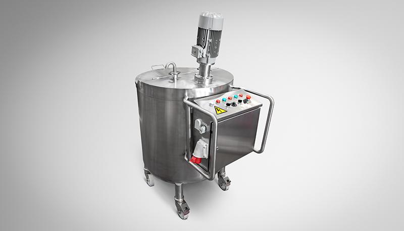 Mezclador de 400 litros para zona segura